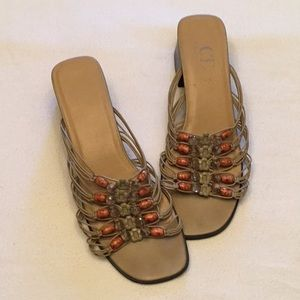 C.B.COLLECTIONS SANDALS. SIZE 8